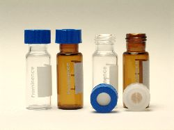Vials, LC, 1.5mL CLEAR GLASS S WITH PRE-SLIT SEPTA, 100/PK.