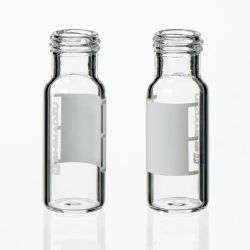 Vials, 1.5mL Clear Silanized Glass Vial w/ Cap & Septa, Short Thread, 12 x 32mm, 9mm opening, 100/pk