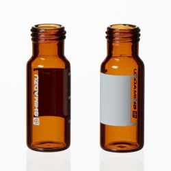 Vials, 1.5mL Amber Silanized Glass Vial w/ Cap & Septa, Short Thread, 12 x 32mm, 9mm opening, 100/pk