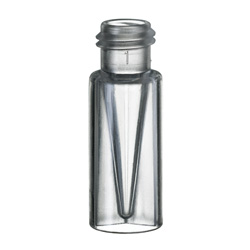 Vials, 200µL TPX Vial w/ Glass Micro Insert in PP Vial, Short Thread 12 x 32mm, 9mm opening, 100/pk