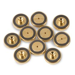 Gold Plated Inlet Seals Dual Vespel Ring, 0.8mmID 10pk