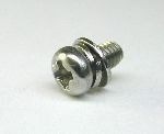 SCREW,SST SEMS BK M3X6