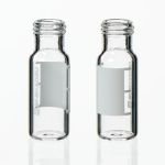 Vials, 1.5mL Clear Glass Vial w/ Cap & Septa, Short Thread Vial, 12 x 32mm, 9mm opening 100/pk